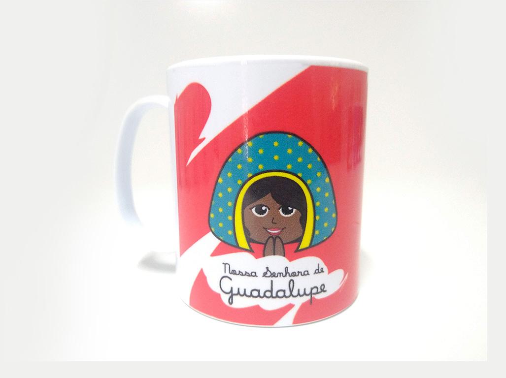 Caneca de Polímero - Caneca Infantil Nossa Senhora de Guadalupe
