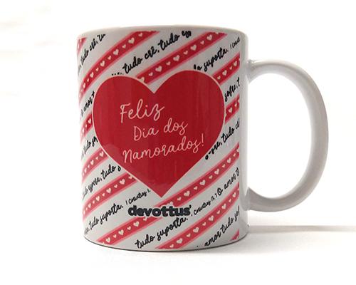 Caneca de Porcelana - Dia dos Namorados - O Amor 1Cor13 (Vermelha)