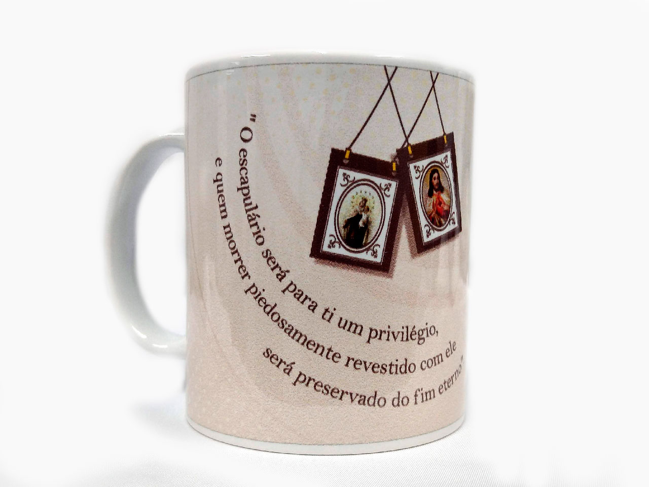 Caneca de Porcelana - Escapulário Nossa Senhora do Carmo