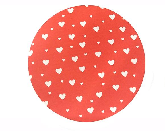 Capa para Sousplat - Estampa Coração
