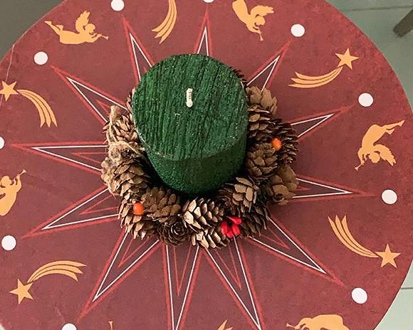 Capa para Sousplat - Natal - Estrela Natalina