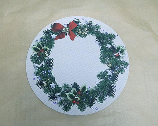 Capa para Sousplat - Natal - Guirlanda Bege
