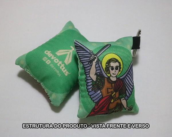 Chaveiro Almofadinha Ilustração São Miguel Arcanjo