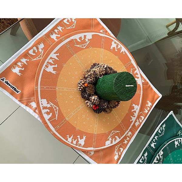Jogo Americano - Natal - Presépio Alaranjado