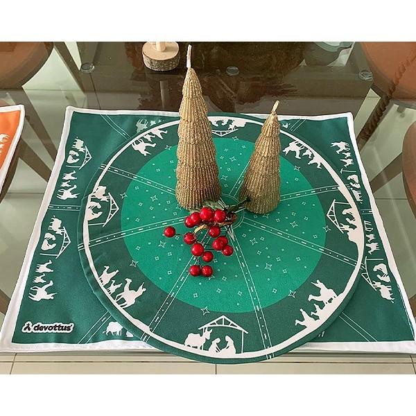 Jogo Americano - Natal - Presépio Verde