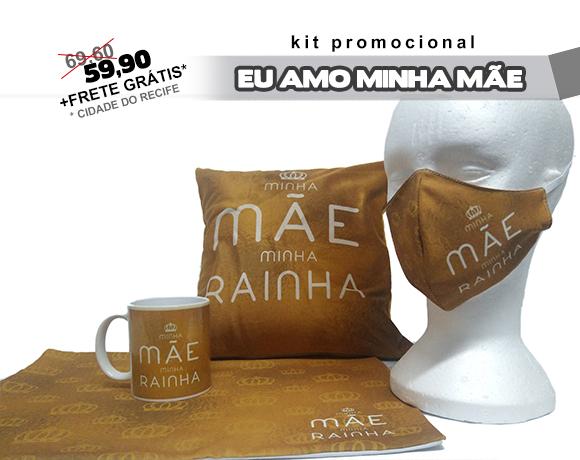 KIT DIA DAS MÃES - MINHA MÃE MINHA RAINHA (DOURADO)