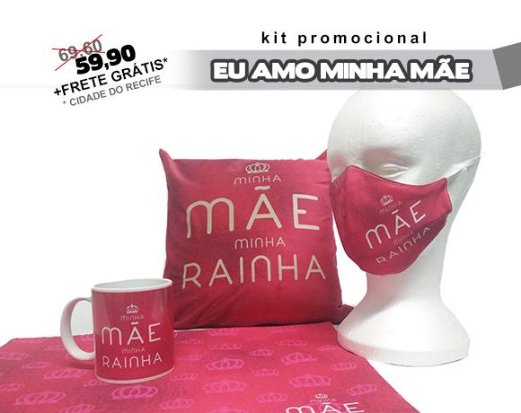 KIT DIA DAS MÃES - MINHA MÃE MINHA RAINHA (ROSA)
