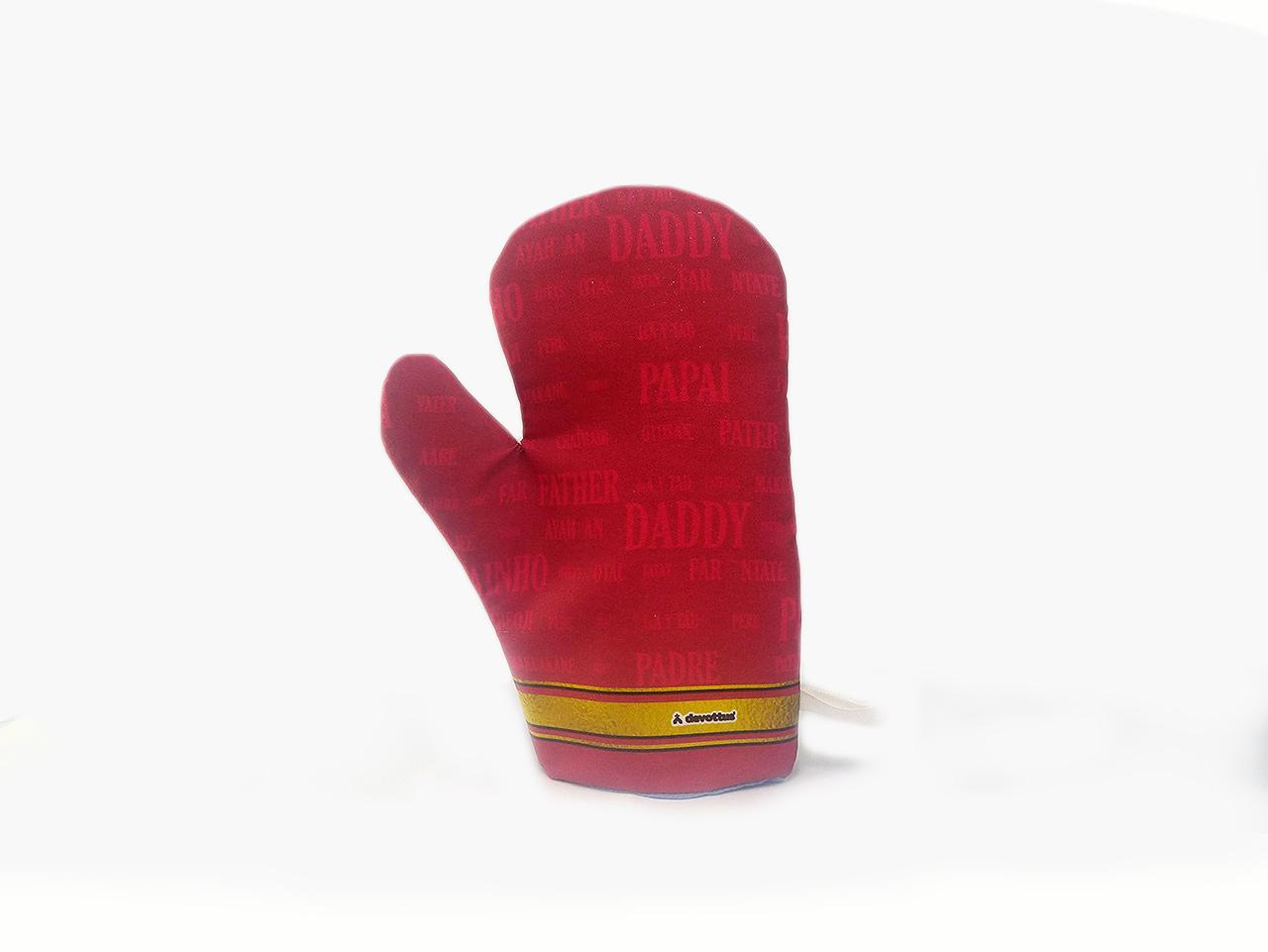 Luva Térmica de Cozinha - Papai Idiomas (Vermelha)