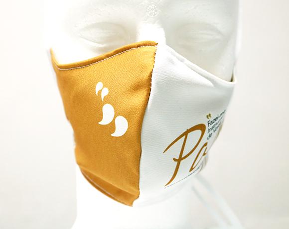 Máscara de Proteção Bico de Pato (EPI) - Frases dos Santos - Fazei-me Instrumento de Vossa Paz