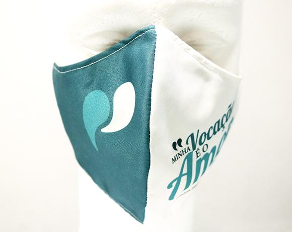 Máscara de Proteção Bico de Pato (EPI) - Frases dos Santos - Minha vocação é o Amor
