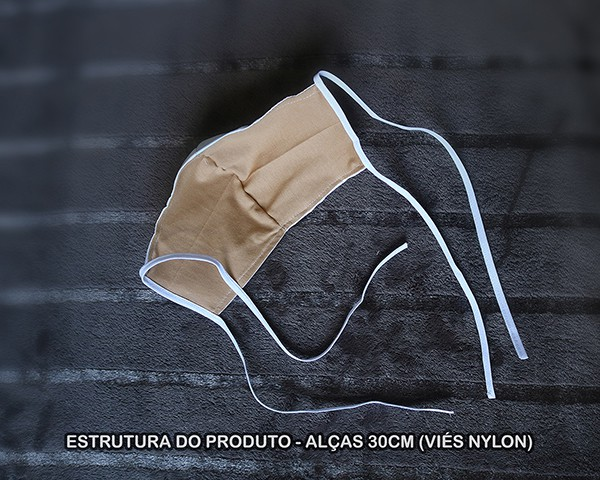 Máscara de Proteção Bico de Pato (EPI) - Frases dos Santos - Só Deus Basta