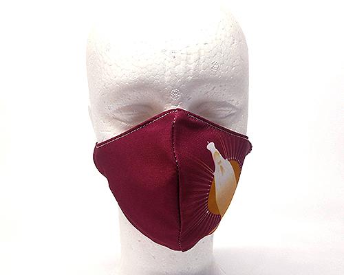 Máscara de Proteção Bico de Pato (EPI) -Nossa Senhora de Fátima Estrela Brilhante - Vinho
