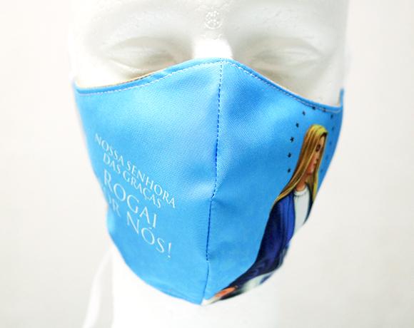 Máscara de Proteção Bico de Pato (EPI) - Rogai por Nós - Nossa Senhora das Graças