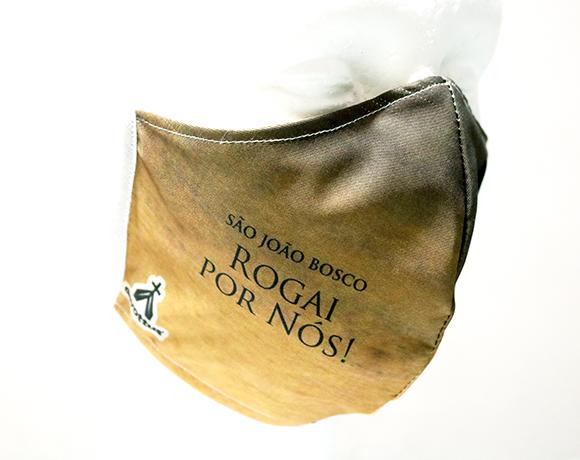 Máscara de Proteção Bico de Pato (EPI) - Rogai por Nós - São João Bosco