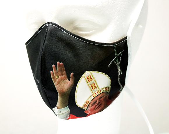 Máscara de Proteção Bico de Pato (EPI) - Rogai por Nós - São João Paulo II