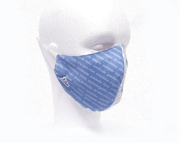 Máscara de Proteção Bico de Pato (EPI) - Valor de Mãe (Azul)