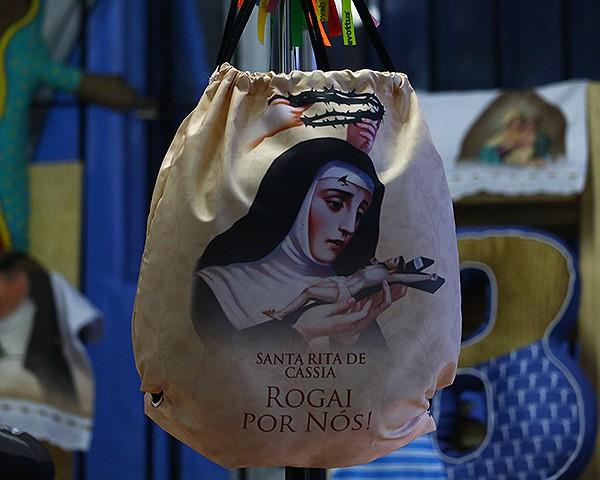 Mochila Saco - Rogai por Nós Santa Rita de Cássia