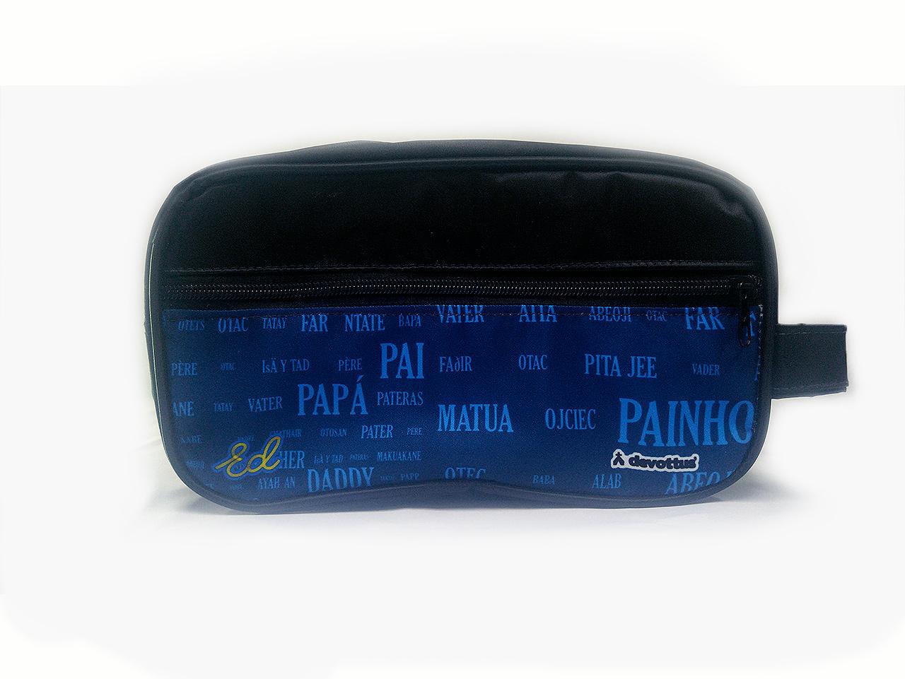 Nécessaire Masculina - Papai Idiomas (Azul)