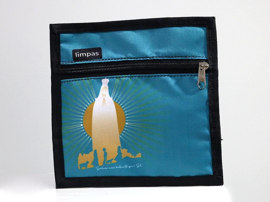 Porta Máscaras - Fátima Luz Brilhante Azul