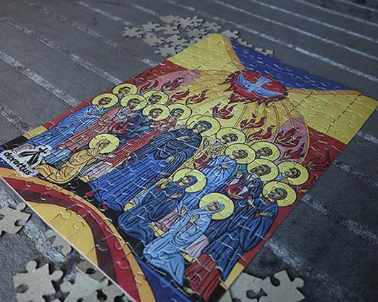 Quebra-Cabeça (42 x 29 cm) - Ícone Pentecostes