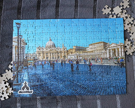 Quebra-Cabeça (42 x 29 cm) - Pátio do Vaticano