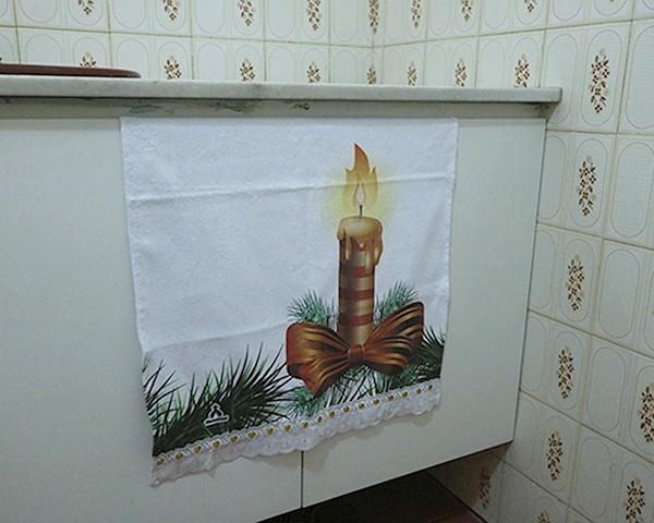 Toalhinhas Decorativas - Natal - Vela Natalina