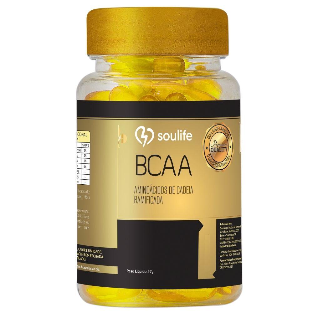 BCAA - Recuperação Muscular - 60 cápsulas - Soulife