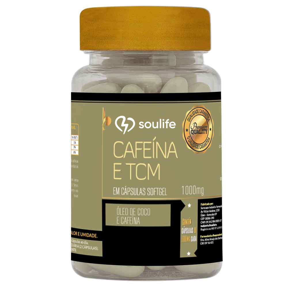 Cafeína com TCM 1000mg - Soulife