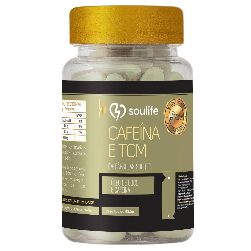 Cafeína com TCM - Termogênico e Aumento de energia - 60 cápsulas - Soulife