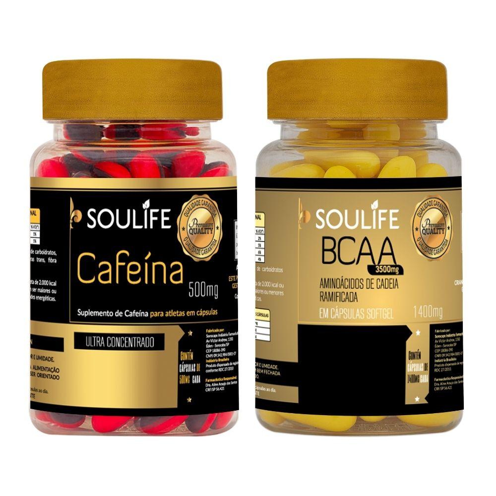 Combo - Cafeína 30 cápsulas + BCAA 30 cápsulas - Soulife