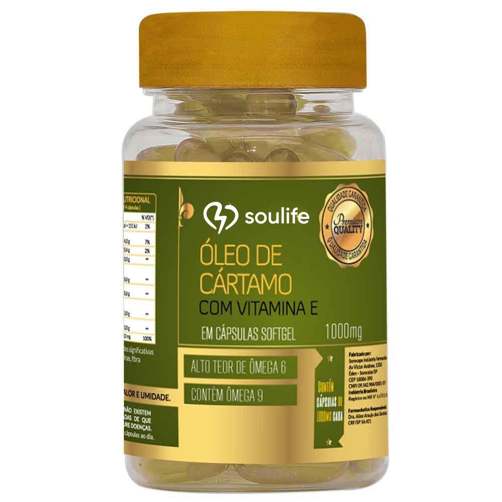 Óleo de Cártamo com Vitamina E  1000mg - Soulife