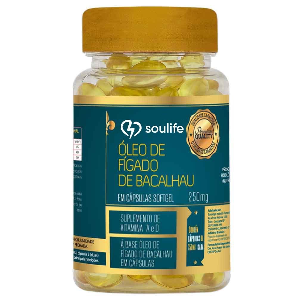 Óleo de Fígado de Bacalhau  250mg - Soulife  - SOULIFE