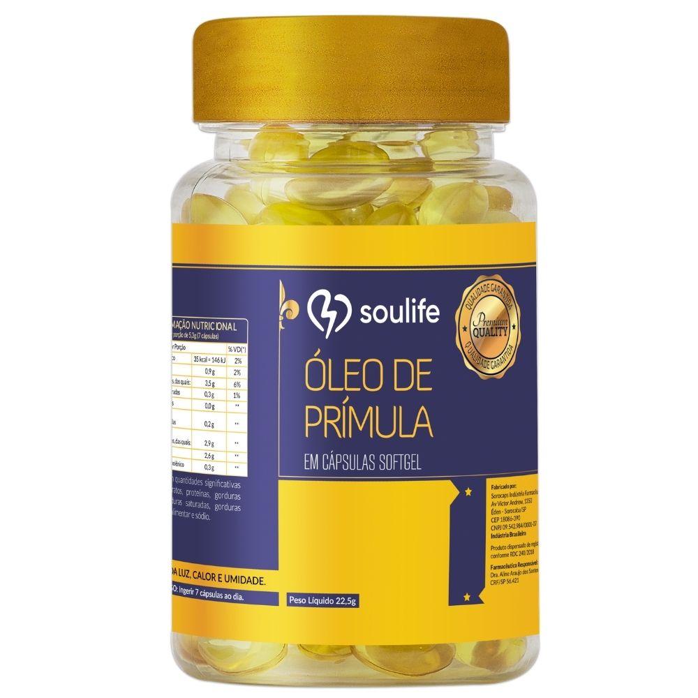 Óleo de Prímula - 150 cápsulas - Alivia sintomas TPM e Menopausa - Soulife