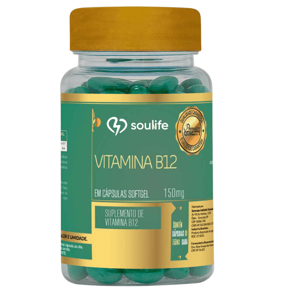 Vitamina B12 250mg - Soulife