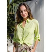 Camisa Básica Balneare - Verde Folha/Verde Fluor