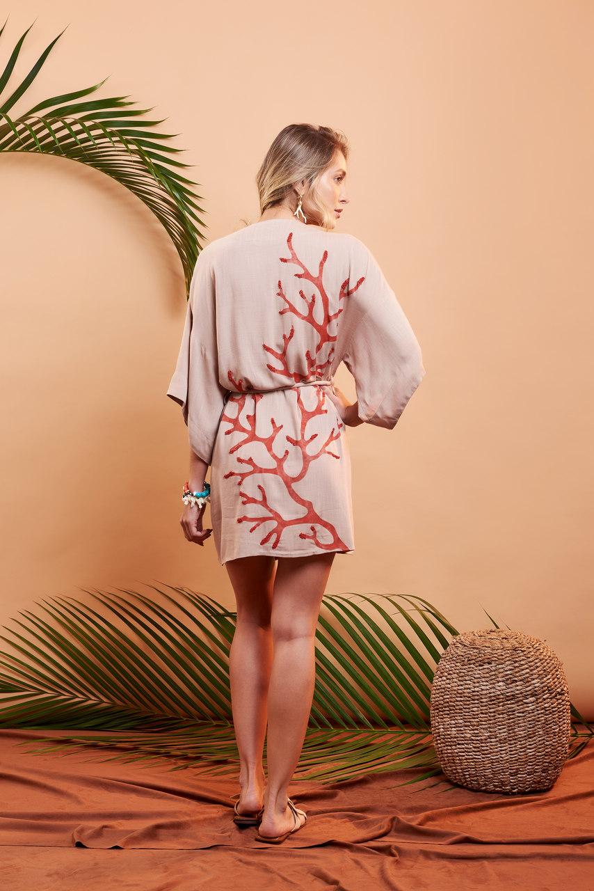 Kimono Corais - Areia