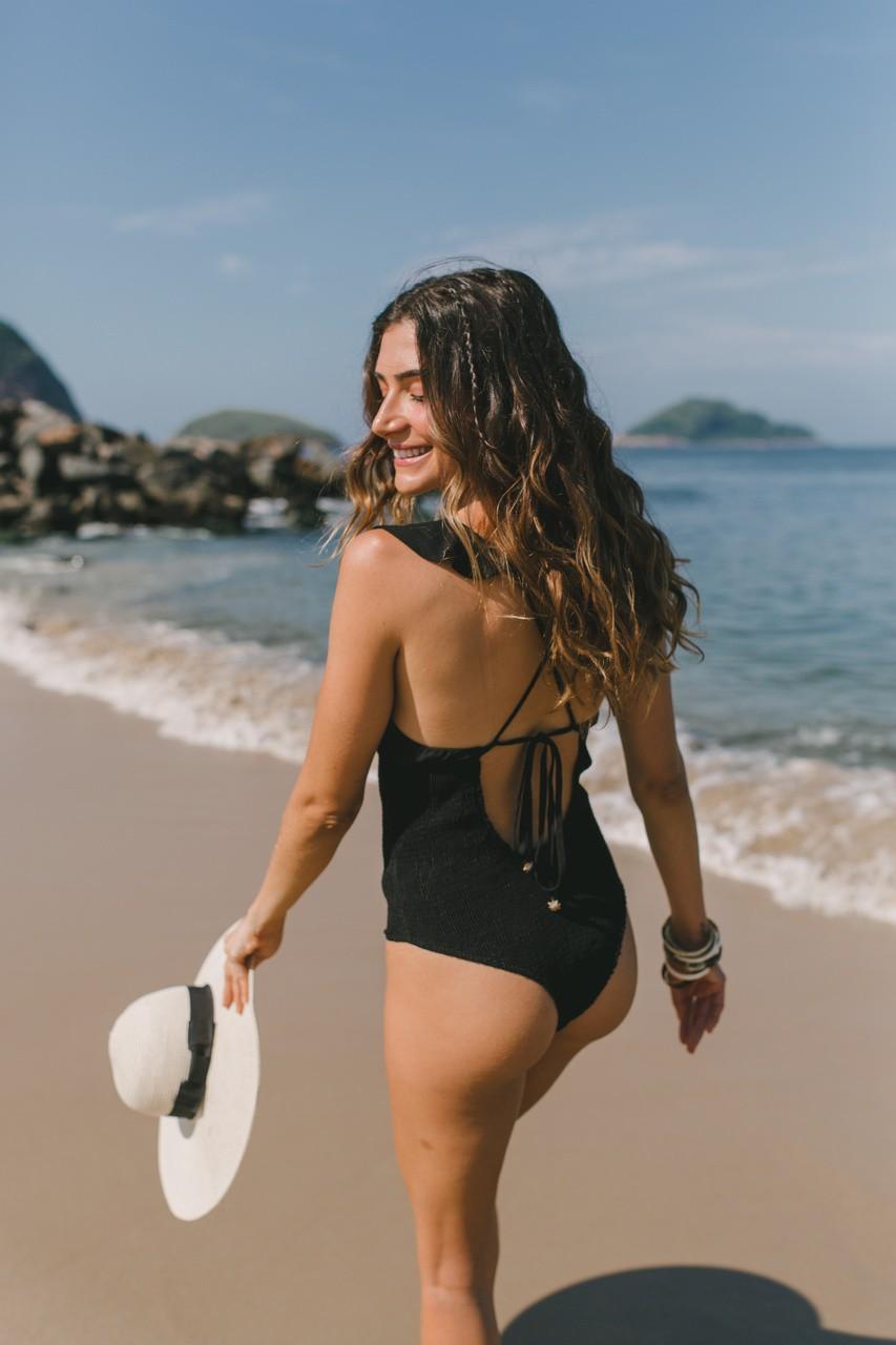 Maiô Linho Búzios - Preto