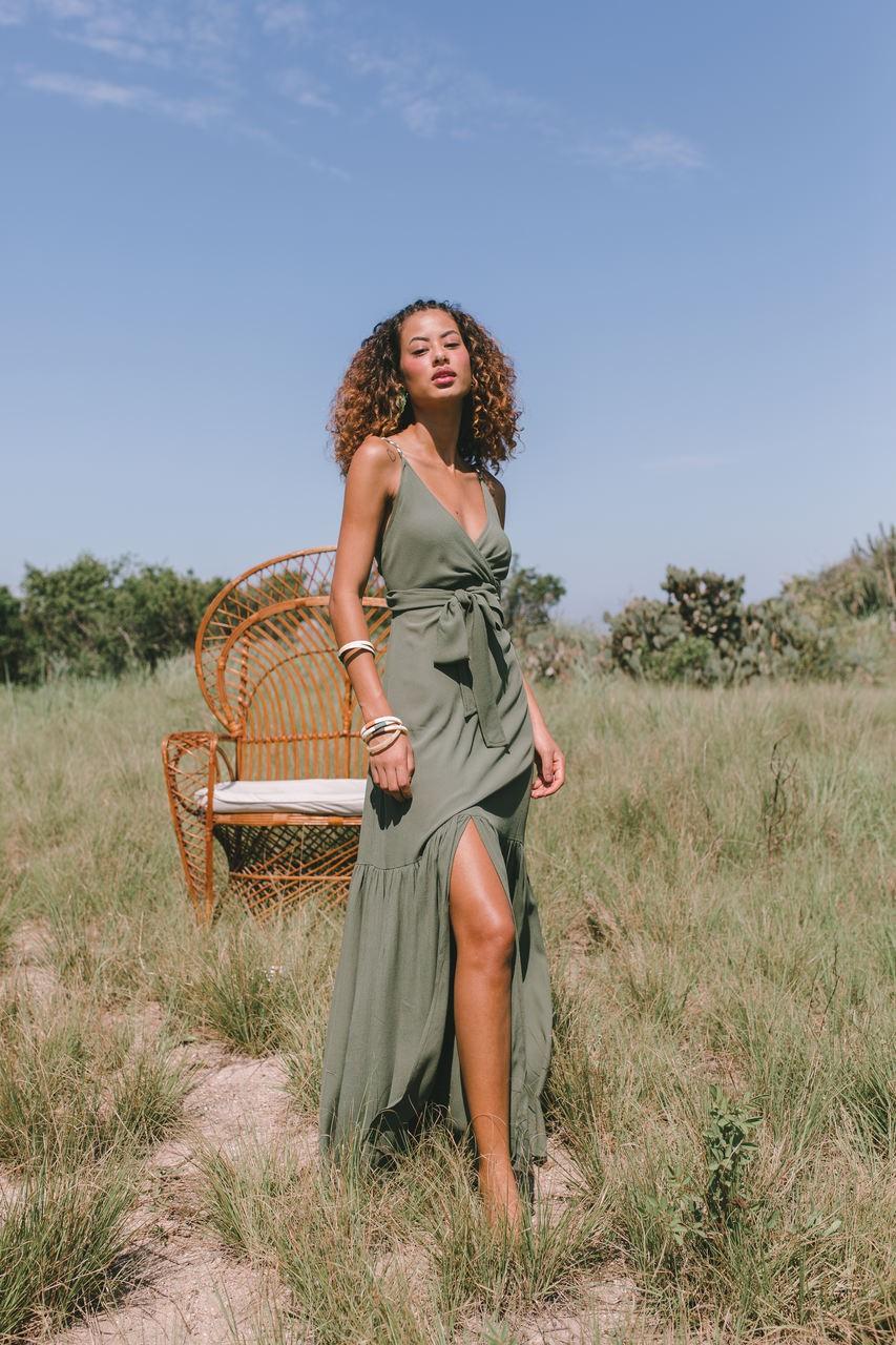 Vestido Trancoso - Verde Grama