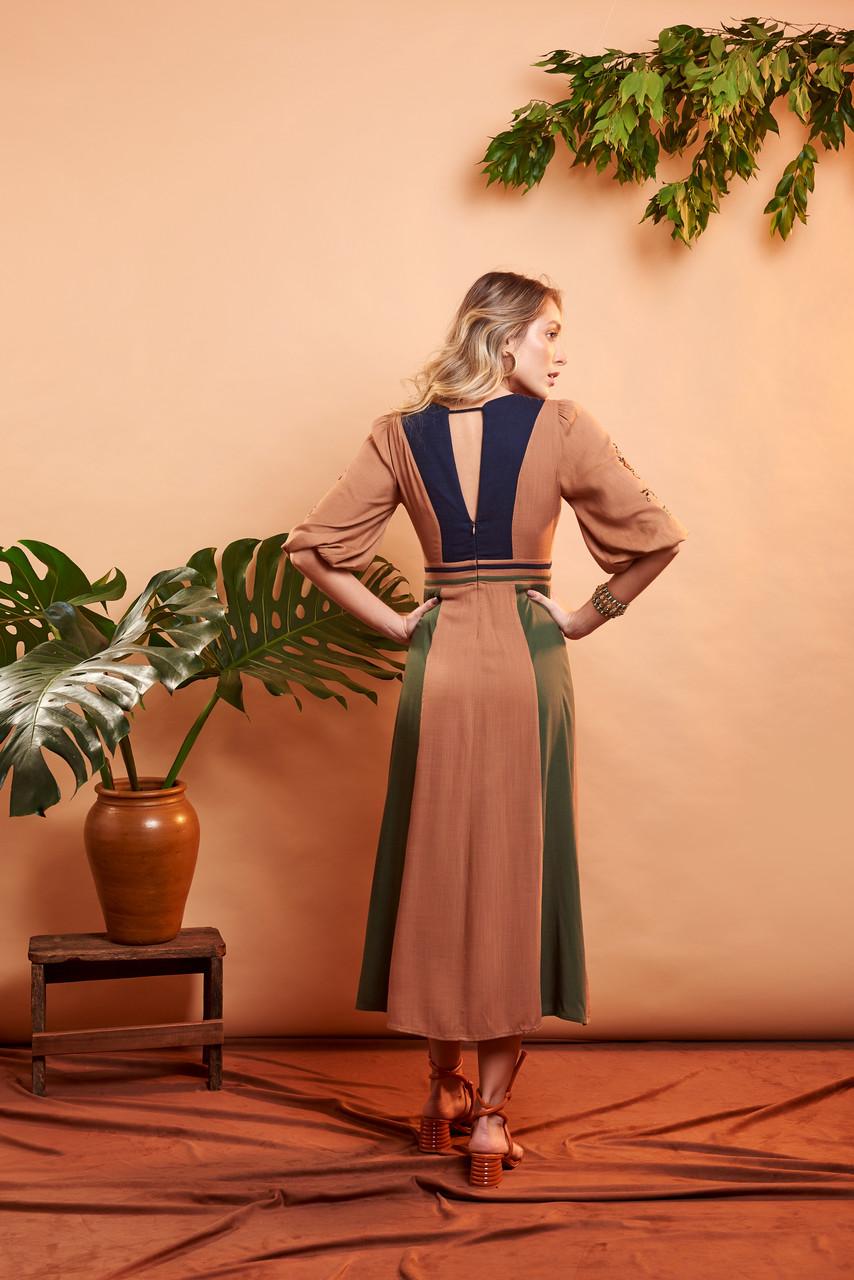 Vestido Yang - Color Block