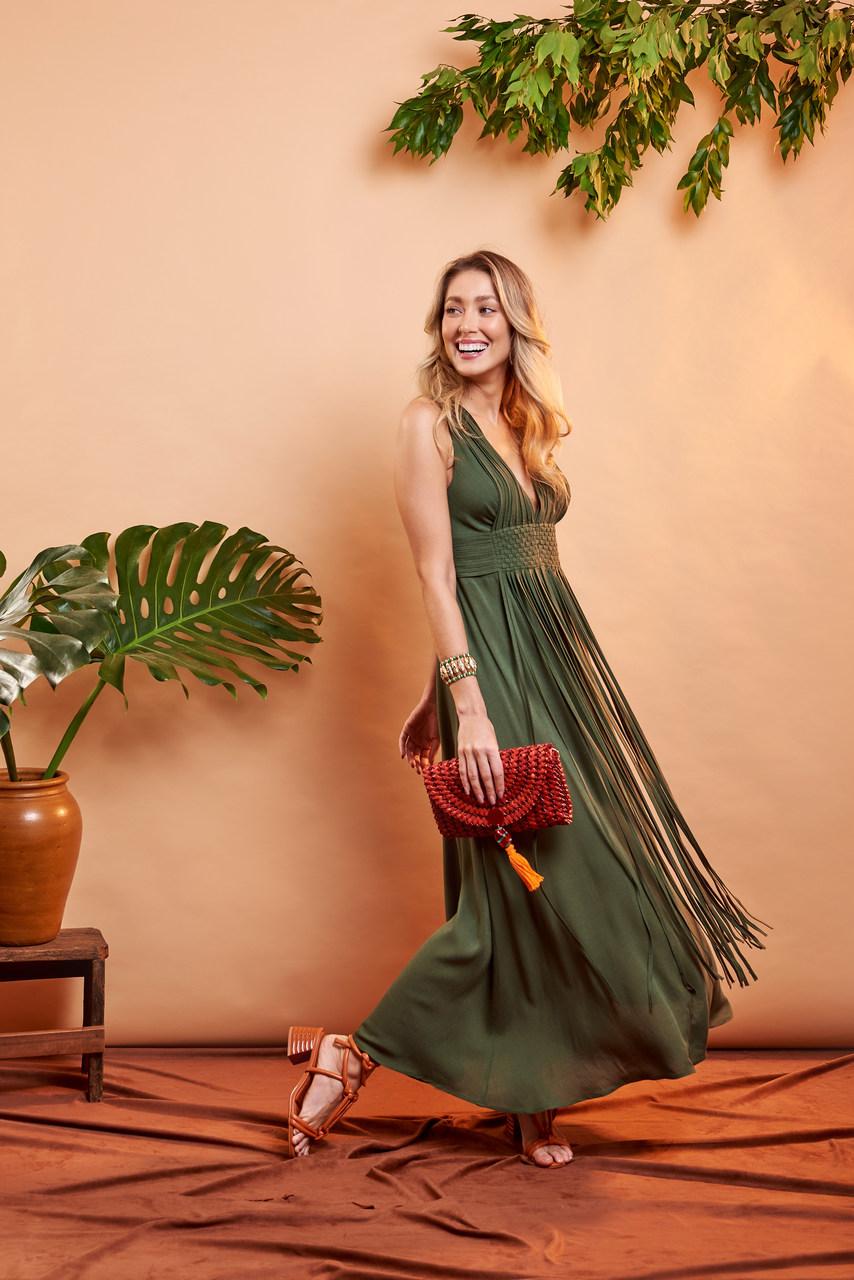 Vestido Yin - Verde Floresta
