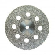 Disco Diamantado Montado 932D Granulação Média Dupla Face Com Furos Semi Flexível 22X0,30mm - JOTA