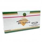 Fio de Sutura de Nylon BC Agulha com 24 Unidades - BIOLINE