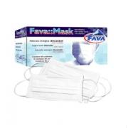 Máscara com  Elástico Tripla Branca - FAVA