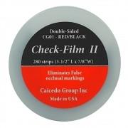 Papel Carbono Check Film II Vermelho/Preto com 280 Folhas 12 Micras - ART DENTE