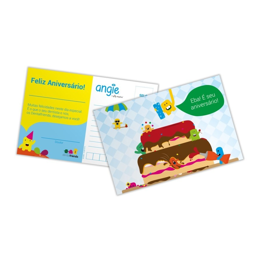 Cartão de Aniversário - ANGIE BY ANGELUS  - CD Dental