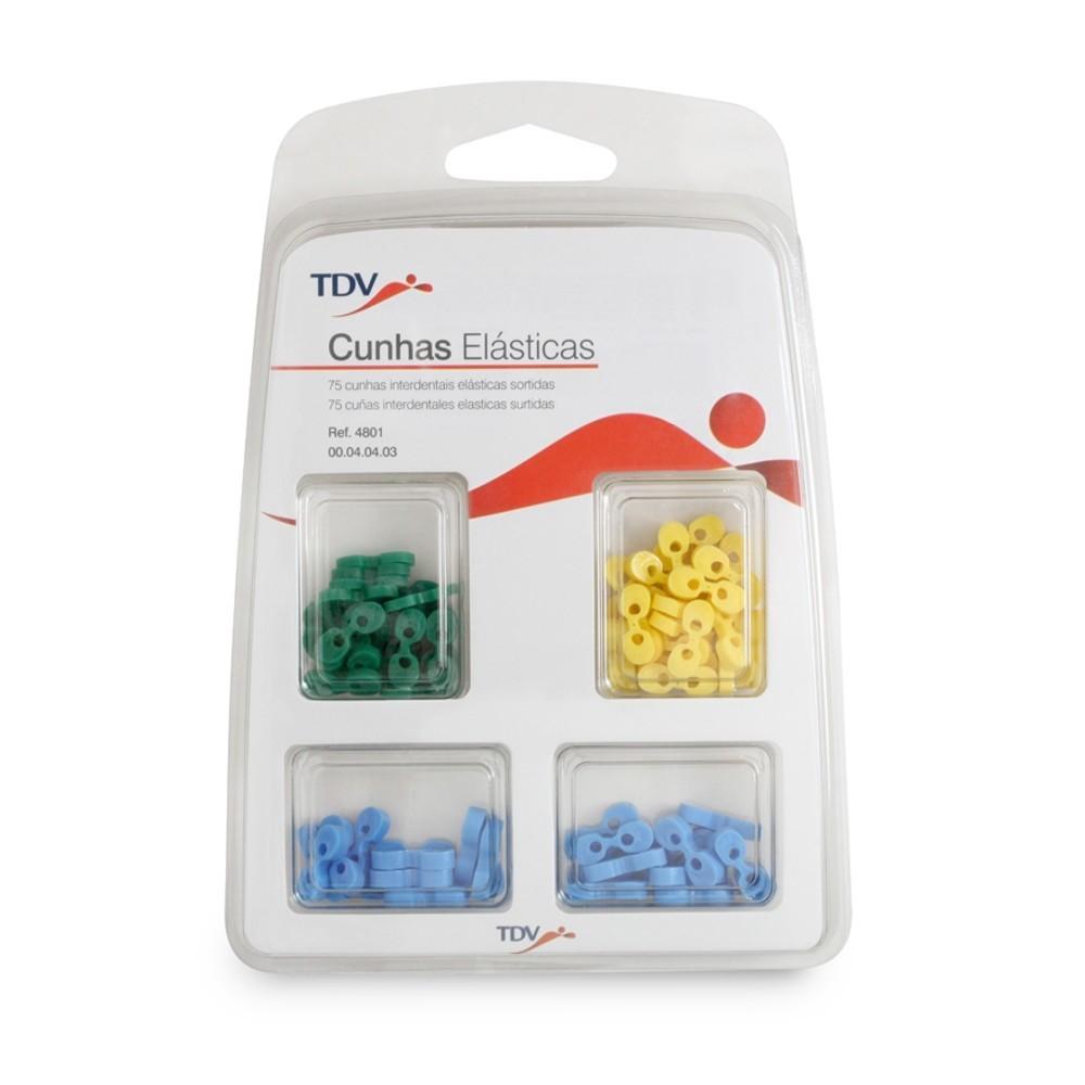 Cunha Elástica Sortida 4801 Kit com 75 - TDV  - CD Dental