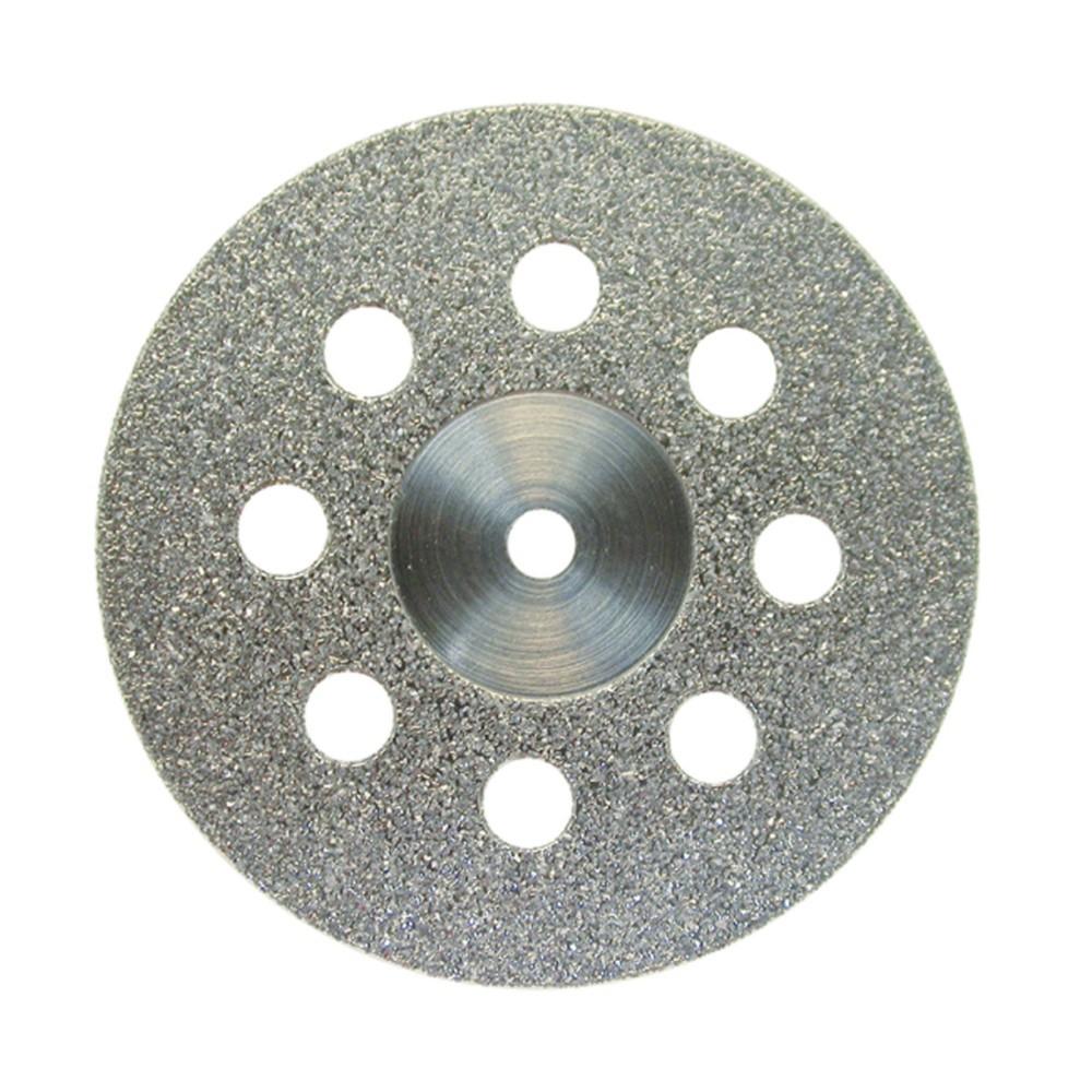 Disco Diamantado Montado 932D Granulação Média Dupla Face Com Furos Semi Flexível 22X0,30mm - JOTA  - CD Dental