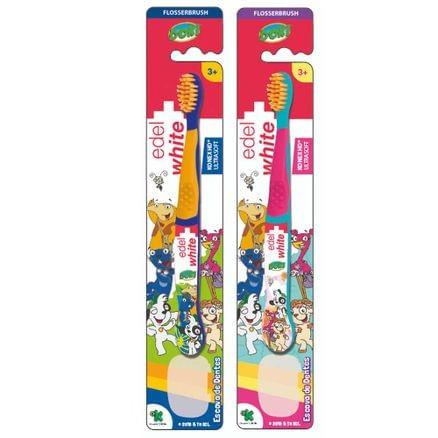 Escova Dental Flosserbrush Kids Doki - EDEL WHITE  - CD Dental