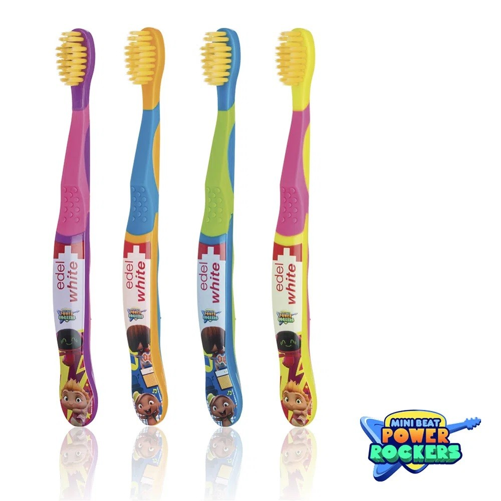 Escova Dental Flosserbrush Kids Mini Beat - Power Rockers - EDEL WHITE  - CD Dental