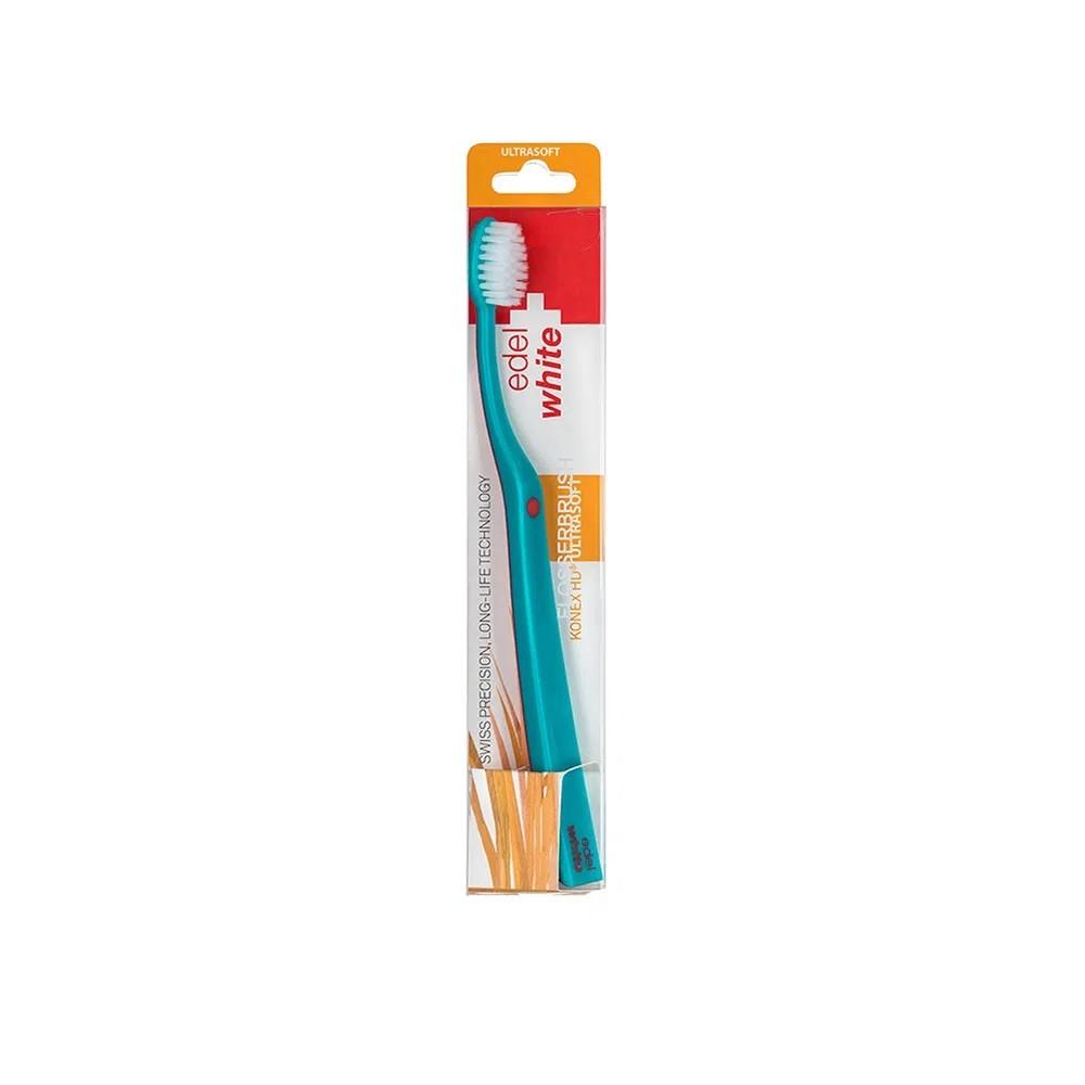 Escova Ultrasoft Flosserbrush c/ Cerdas Konex - EDEL WHITE  - CD Dental